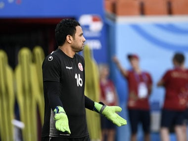 Tunisian goalkeeper Aymen Mathlouthi was initially intended to be third choice, but will start the match against Panama. AFP