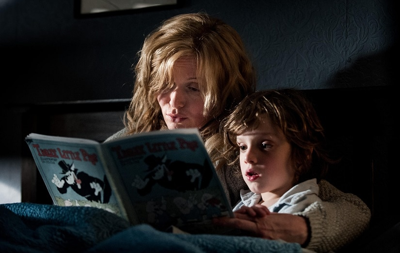Essie Davis reads to her son in The Babadook. Image via Facebook