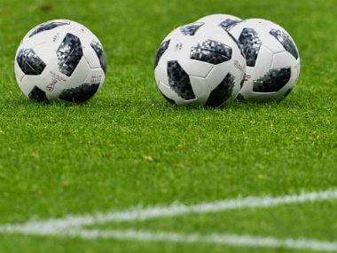 Telstar 18 balls, the official match ball for the 2018 World Cup football tournament. AFP