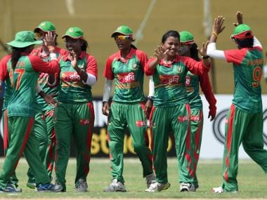 Bangladesh Women's team beat India for the first time at the international stage. Twitter/@ICC