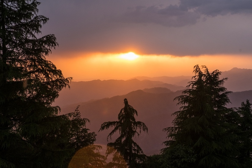 Beautiful Binsar sunsets