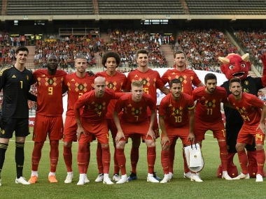 File image of the Belgium team. AFP