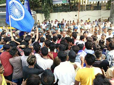 Protesters after the Bhima Koregaon violence in January 2018. 101 Reporters