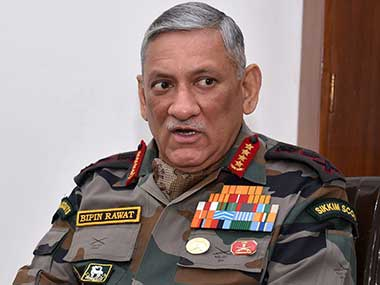 File image of Indian Army chief Bipin Rawat. PTI