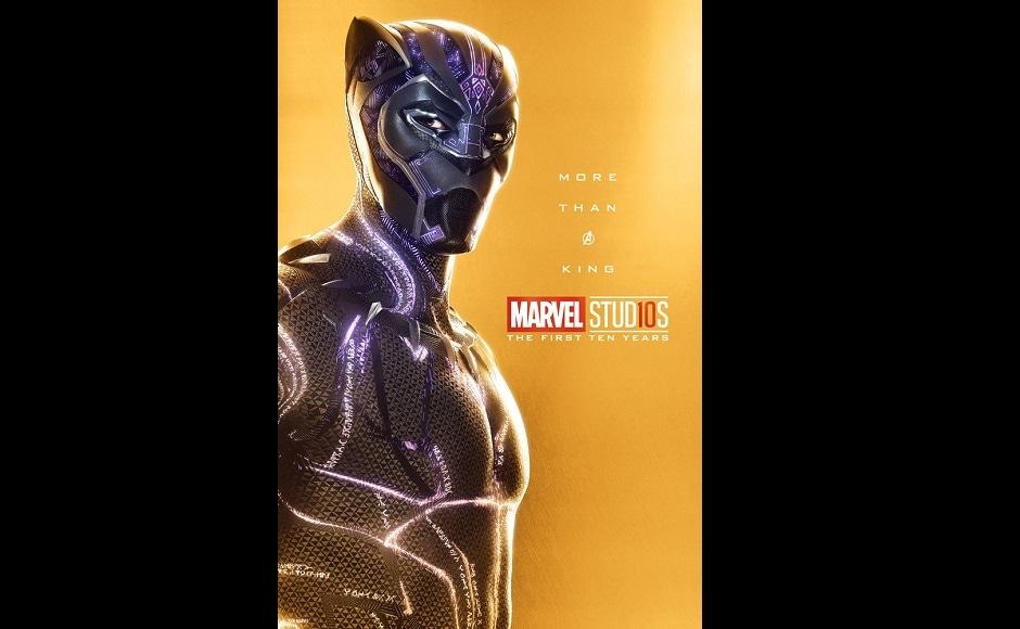 Chadwick Boseman portrays Black Panther. Twitter@MarvelStudios
