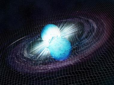 Neutron star merger illustration. Image: NASA/CXC