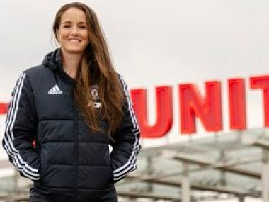 Manchester United have named Casey Stone as their new head coach of the women's team. Image courtesy: Twitter @ManUtd