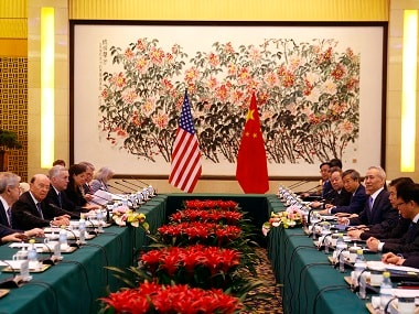 US Commerce Secretary Wilbur Ross and Chinese Vice-Premier Liu He hold talks. AP