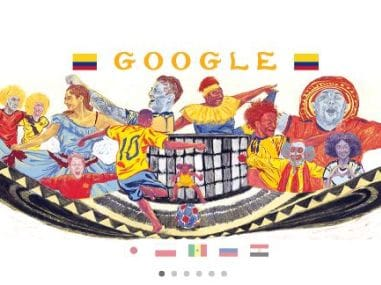 Google Doodle for Colombia's footballing culture.