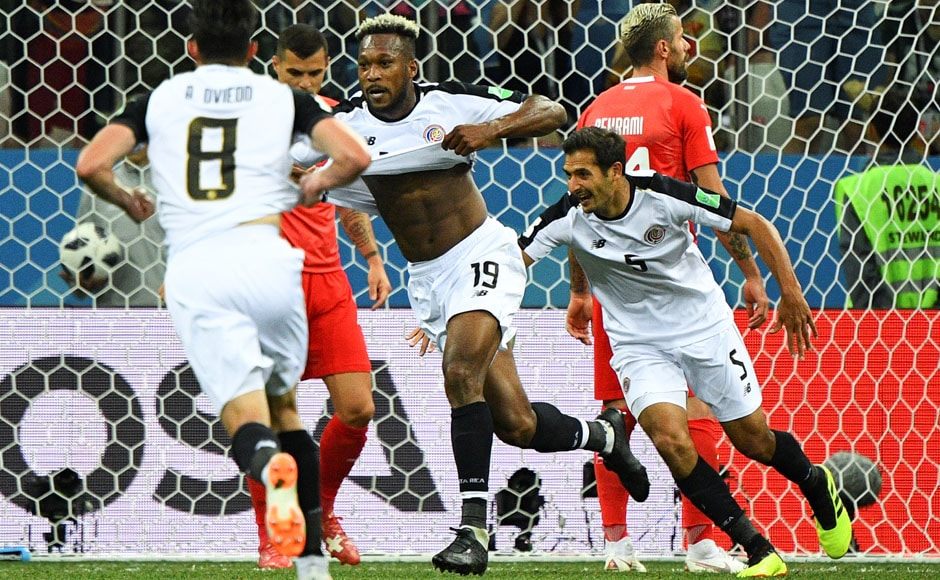 Costa Rica and Switzerland played out a 2-2 draw which saw the South Americans score their first goal of the competition. AFP