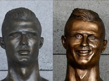 The original bust of Cristiano Ronaldo's was ridiculed on social media after pictures of it were released on the internet. AFP