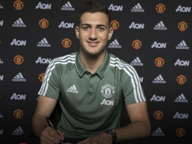 Manchester United's new signing Diogo Dalot. Twitter: @ManUtd