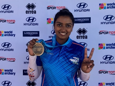 Indian archer Deepika Kumari beat German Michelle Kronner to qualify for the circuit final later this year. Twitter@worldarchery