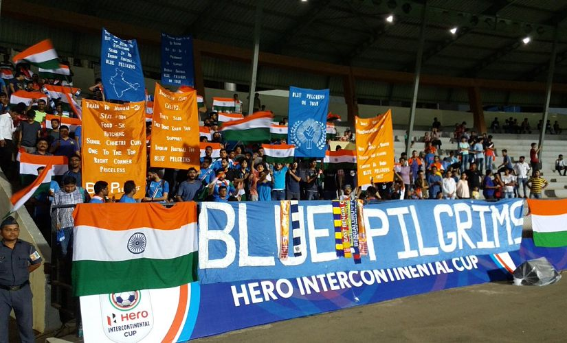 For a federation that has roped in celebrity team owners to promote the ISL, the AIFF made no attempts to get Mumbai's football lovers to head to the Andheri Sports Complex and support the Indian team. Image courtesy: Twitter @IndianFootball