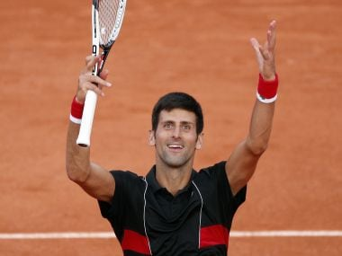 Novak Djokovic cheers the audience after defeating Fernando Verdasco at the French Open. AP
