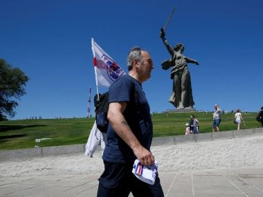 FIFA World Cup 2018: In 'hero city' of Volgograd, England fans see a glimpse of Russian soul