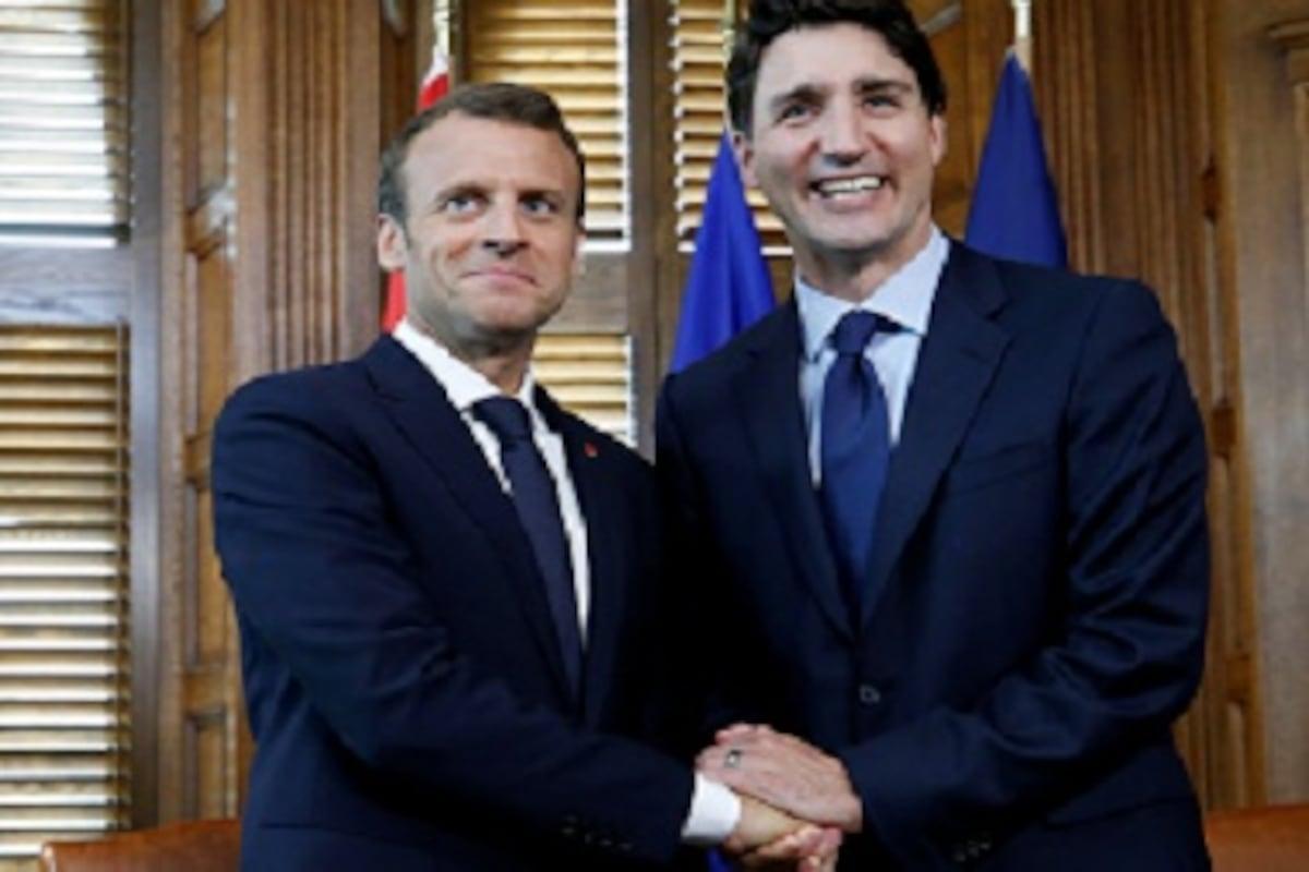 G7 Summit Emmanuel Macron Justin Trudeau Says Discussions Will Focus On Us Tariff Imposition World News Firstpost