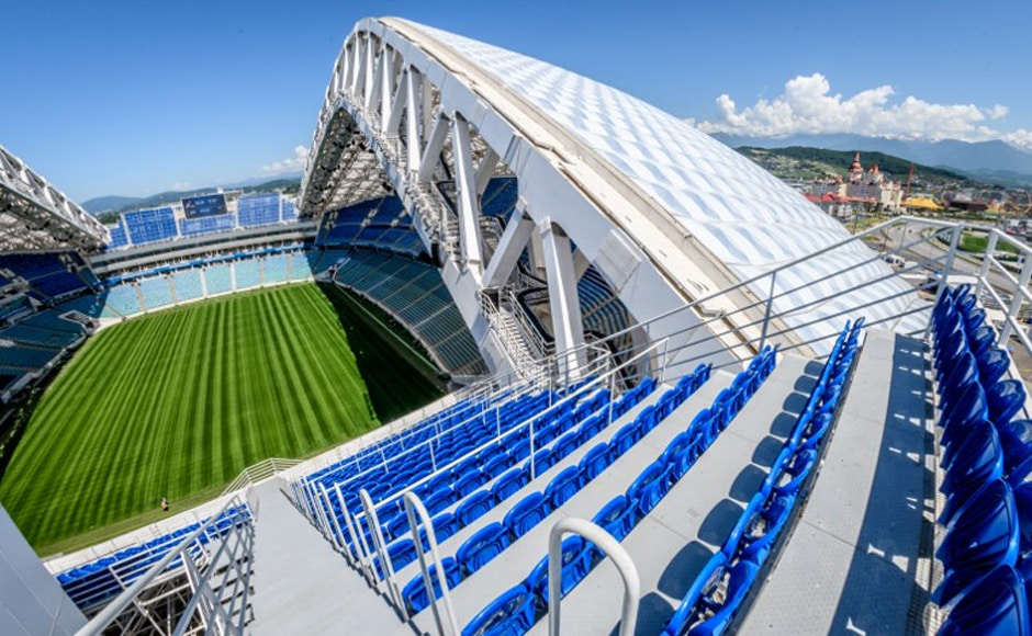 Fisht Stadium: Nestled by the Black Sea, Fisht Stadium hosted the lavish opening and closing ceremonies for the 2014 Winter Olympics, and then the Confederations Cup games. How that Olympic legacy continues after the World Cup isn't clear; Sochi doesn't have a football club to use the stadium. AFP
