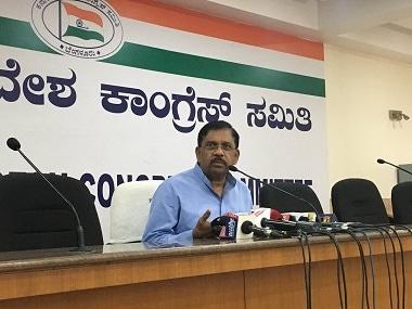 File image of G. Parameshwara. Twitter@INCKarnataka