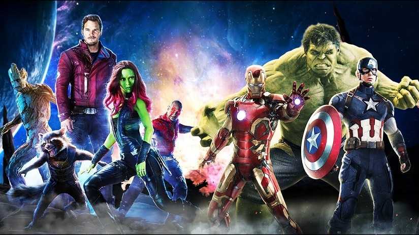Guardians of the Galaxy and the Avengers. Image via Facebook