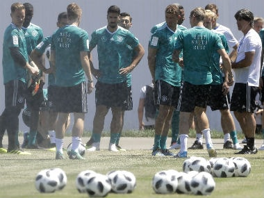 Germany players during team's training session. AP