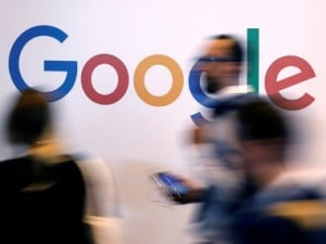 Google logo pictured during the Viva Tech summit. Image: Reuters