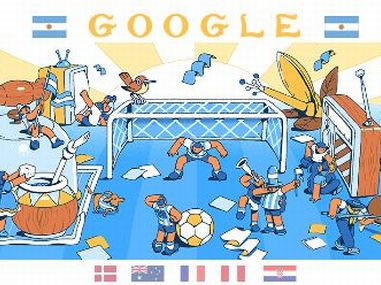 Google Doodle for Day 8 of FIFA World Cup.
