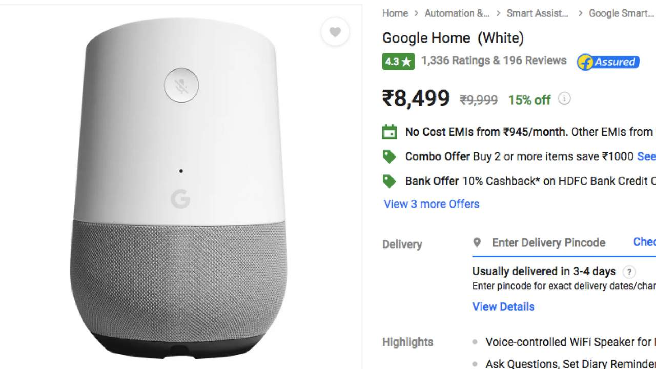 Google Home, Home Mini prices decreased to Rs 8,499 and Rs 3,699 respectively