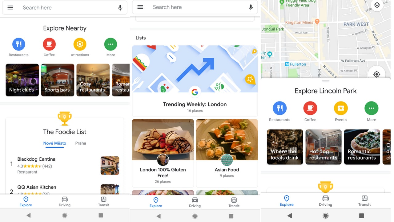 Google Maps Material Theme Design. Image: Android Police
