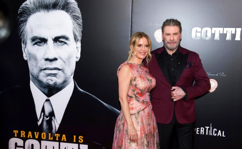 John Travolta and Kelly Preston star in Gotti, the story of John Gotti Sr., the boss of the Gambino crime family. The Associated Press/ Charles Sykes