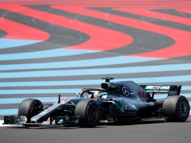 Mercedes' Lewis Hamilton during practice in France. Reuters