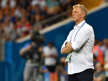 Heimir Hallgrimsson has overseen Iceland's incrdible journey which saw the tiny nation of just 335,000 people reaching the quarter finals of Euro 2016 and qualifying for the World Cup. AFP