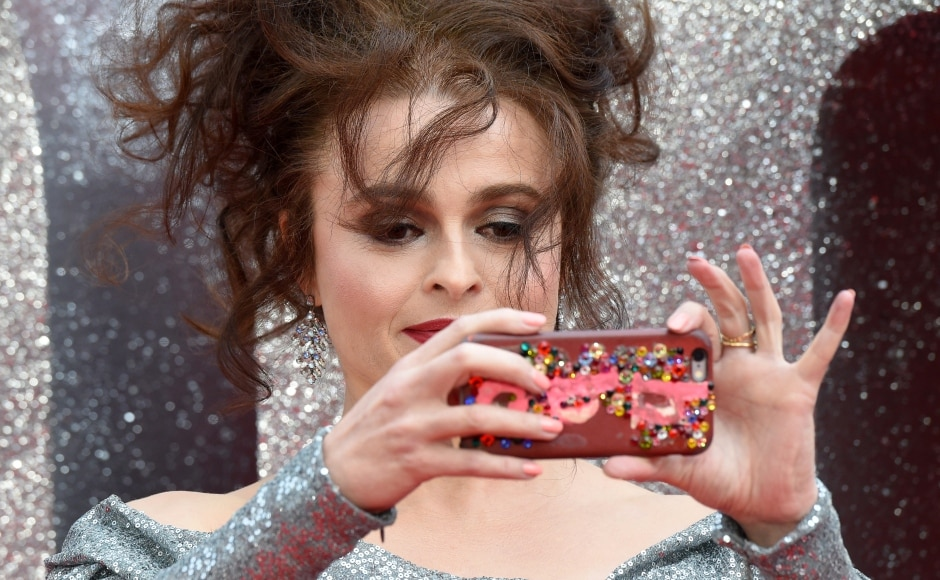 Helena Bonham Carter clicks a picture at the Ocean's 8 premiere. Agence France Presse/ Anthony Harvey