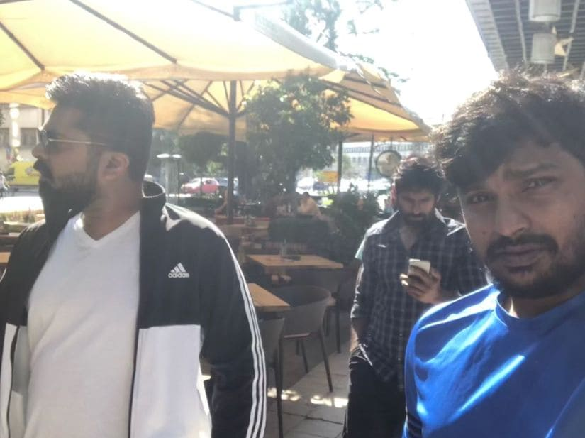 Simbu in Serbia for Chekka Chivantha Vaanam shoot.