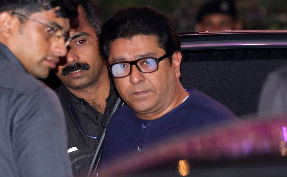 Raj Thackeray arrives at Antilia for the engagement party in Mumbai. Firstpost Photo/Sachin Gokhale