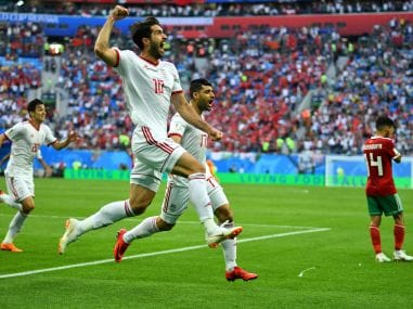 FIFA World Cup 2018: Morocco's Aziz Bouhaddouz scores own goal in injury-time to gift victory to Iran