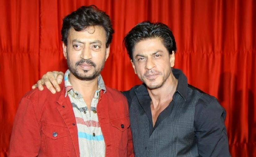 Irrfan Khan (L) and Shah Rukh Khan. Image via Twitter