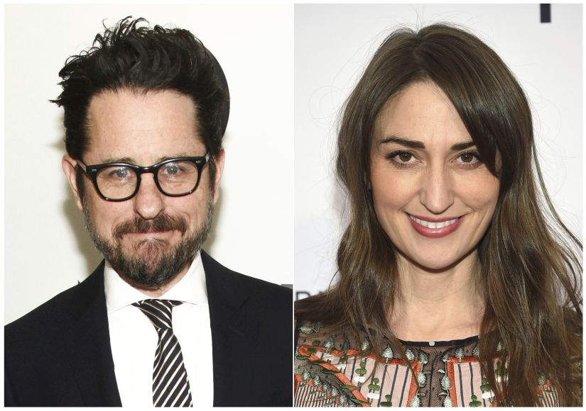 "CORRECTS STREAMING SERVICE TO APPLE INSTEAD OF AMAZON - This combination photo shows filmmaker J.J. Abrams at HBO's Night of Too Many Stars in New York on Nov. 18, 2017, left, and singer-songwriter Sara Bareilles at Tribeca Talks with John Legend during the 2018 Tribeca Film Festival in New York on April 19, 2018. Apple is ordering a comedy-drama series from Abrams that will feature original music by Bareilles. ""Little Voice"" is described by Apple as a romantic tale of searching for one's true voice as a young adult. The show received a 10-episode order, Amazon said Wednesday. (AP Photo)"