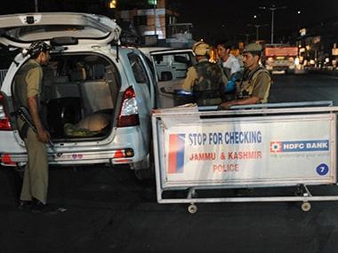File photo of Jammu and Kashmir Police. AFP