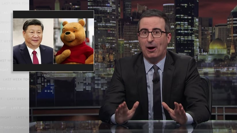 John Oliver criticises Xi Jingping's policies on Last Week Tonight. HBO