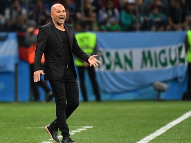 Jorge Sampaoli has come under criticism for his tactics in Argentina's loss to Croatia. AFP