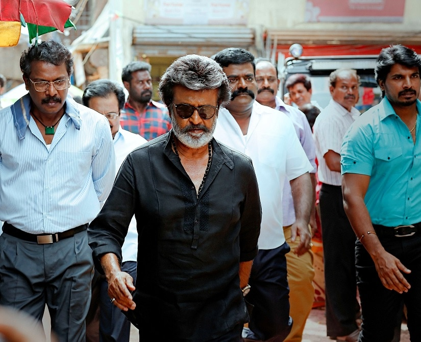 Rajinikanth in a still from Kaala. Image via Twitter