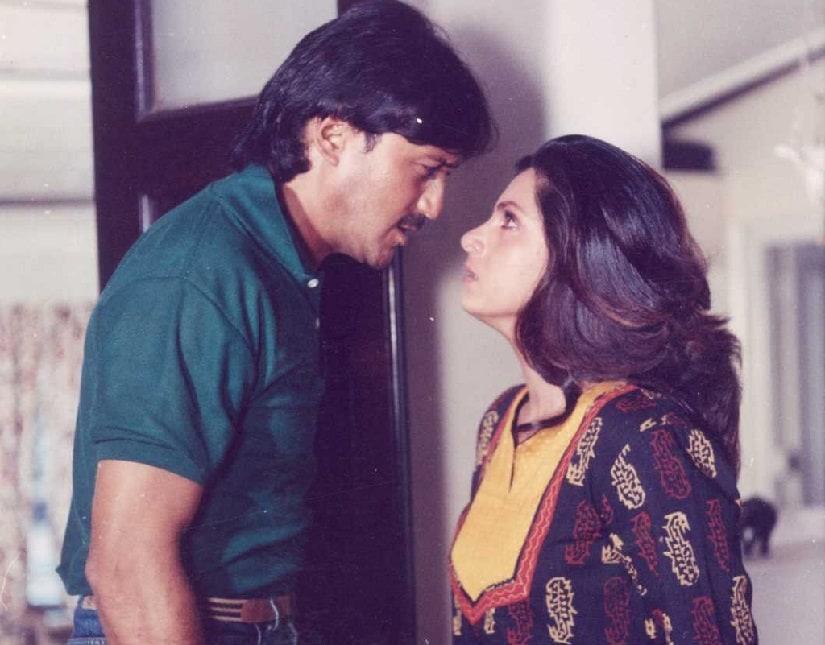 Jackie Shroff and Dimple Kapadia in Kaash. Image via Facebook