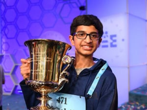 Karthik Nemmani won the 91st Scripps National Spelling Bee on Friday. Image Credit: Facebook page of Scripps National Spelling Bee.