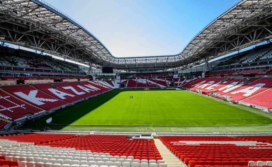 Kazan Arena: Opened in 2013 as the first of Russia's new generation of football stadiums and was used as the prototype for the other new arenas. A versatile venue which has hosted Confederations Cup football, ceremonies, and even the 2015 world swimming championships, where a temporary pool was installed. AFP.