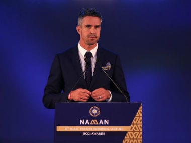 Kevin Pietersen during the annual MAK Pataudi lecture. BCCI