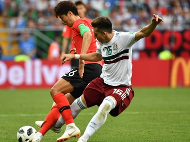South Korea captain Ki Sung-yeung was injured during their match against Mexico. AFP