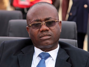 File image of President of Ghana Football Association Kwasi Nyantakyi. AP