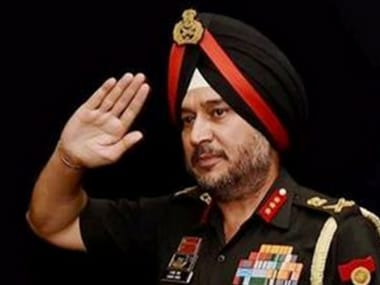 File image of Lieutenant General Ranbir Singh. PTI
