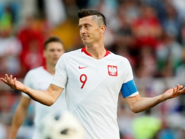 Robert Lewandowski was unhappy with the team's performance against Senegal. Reuters